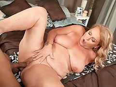 Thousands of cocks, but her first time on-camera!